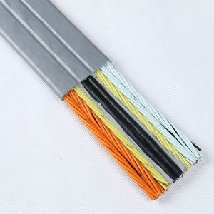 VDE/CE Standard PVC/Rubber insulation and sheath cold/fire resistant Flat Travel Cable flat transmission belt