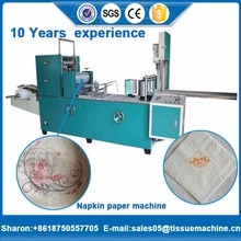 alpha 300 dinner napkin paper 3 colors printing converting machine