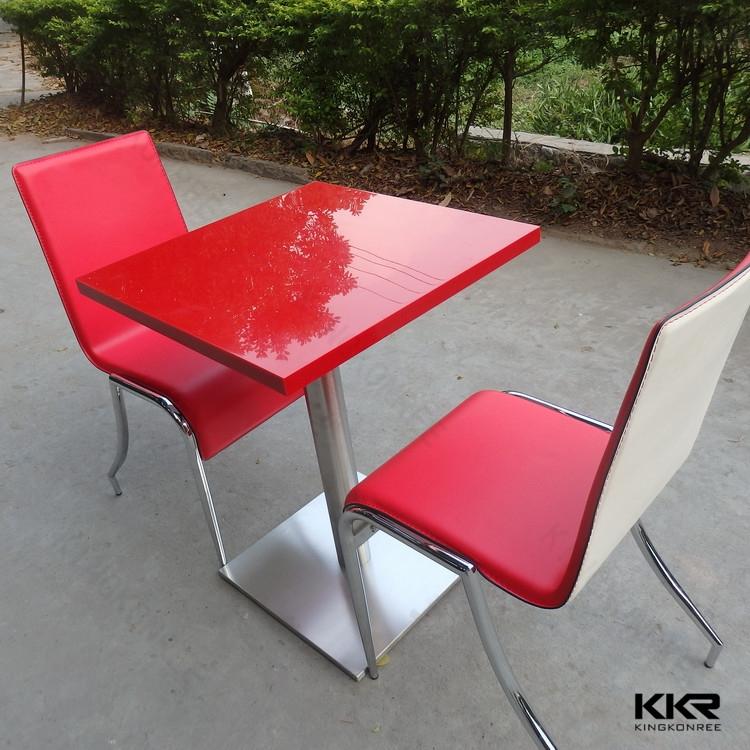 Moderna mesa de comedor de acero inoxidable pierna, diseño de la ...