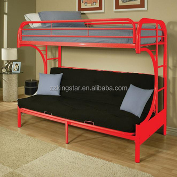 Metal Futon Bunk Bed For