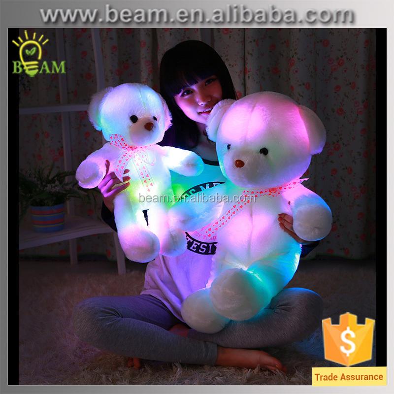 Light Up Teddy Bear Plush Toy/led Teddy Bear/cheap Teddy Lighting ...