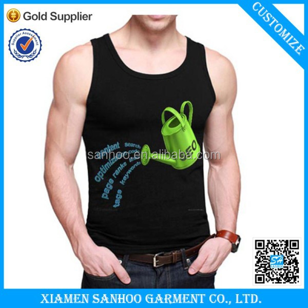Custom Logo Printing Fabric For Tank Top Smooth Moisture Wicking Cotton Spandex Garment