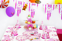 Girls Favorite Pink Baby Shower Theme Party Tableware Set Birthday Party Decorations