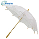 china umbrella factory 100% cotton handmade wooden stick lace parasols wholesale