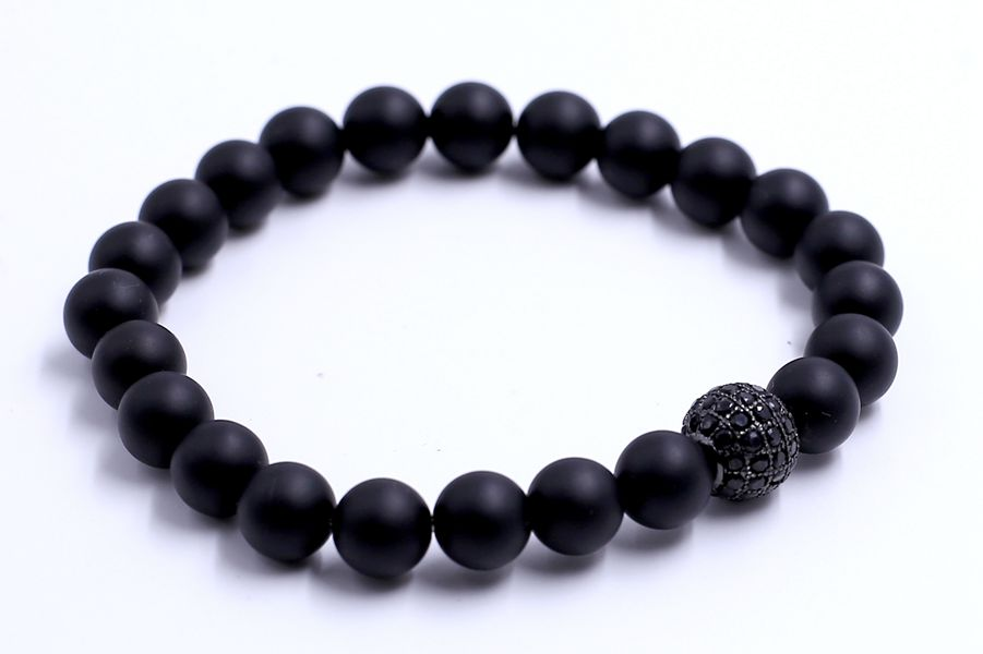Jewelry Men Bead Wholesale Stretch Beaded Bracelet Fashion Accessories Gemstone Bead Bracelet