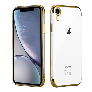 Ultra-Thin Soft Transparent Plating TPU Shockproof Anti-Scratch Phone Cover For iPhone Xr Case