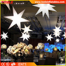 Wholesale Inflatable internally Stars, Party Decoration White LED Inflatable Lighting Star