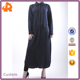 custom made navy blue beautiful model abaya,plain muslim kaftan dress with button