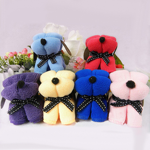 2015 New 1pc Dog Cake Shape Towel Cotton Washcloth Wedding Gifts Present 1V7M Christmas Gift 6LDW