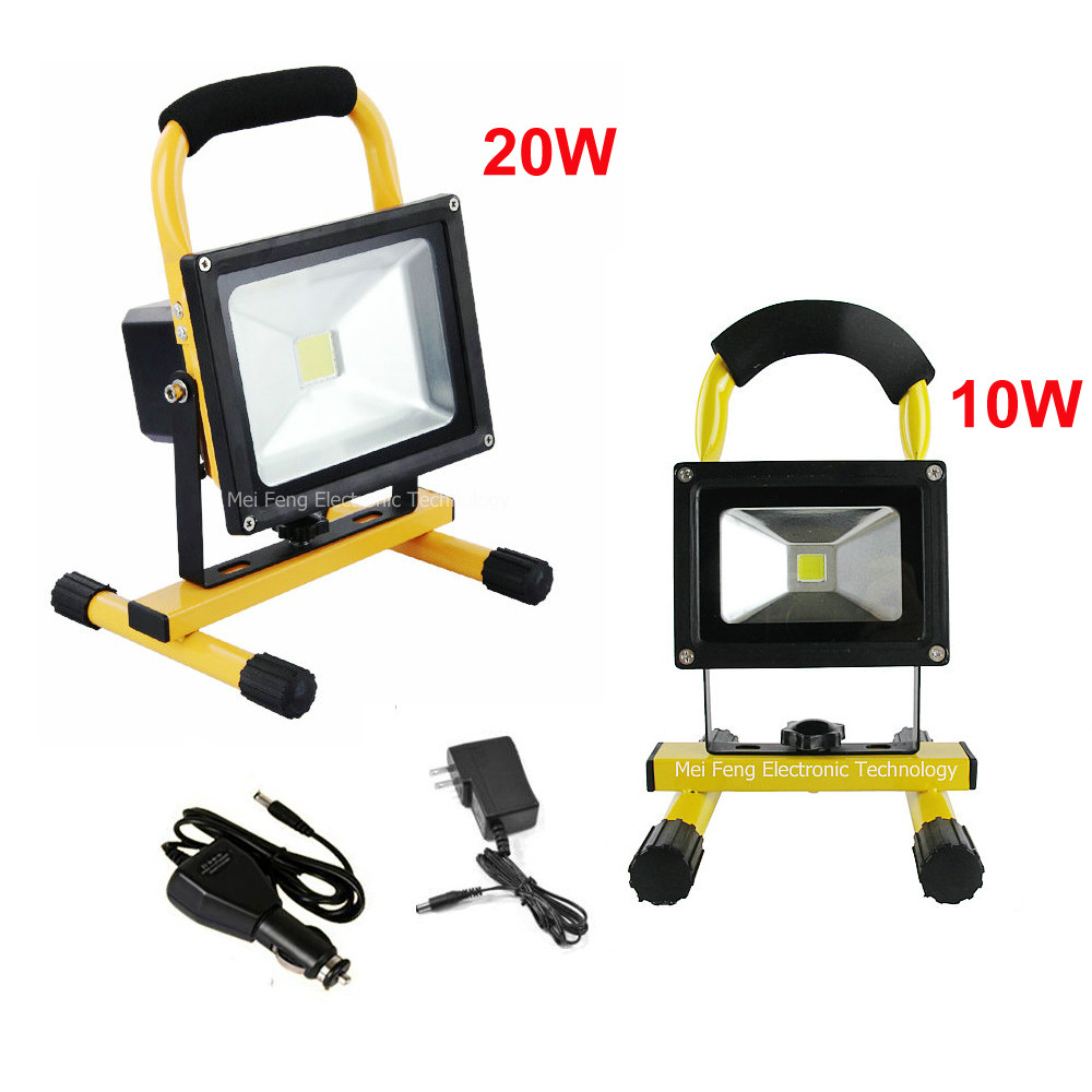 Led Flood Light Rechargeable 20w: DHL Shipping 10W 20W Led Floodlight Outdoor Cordless