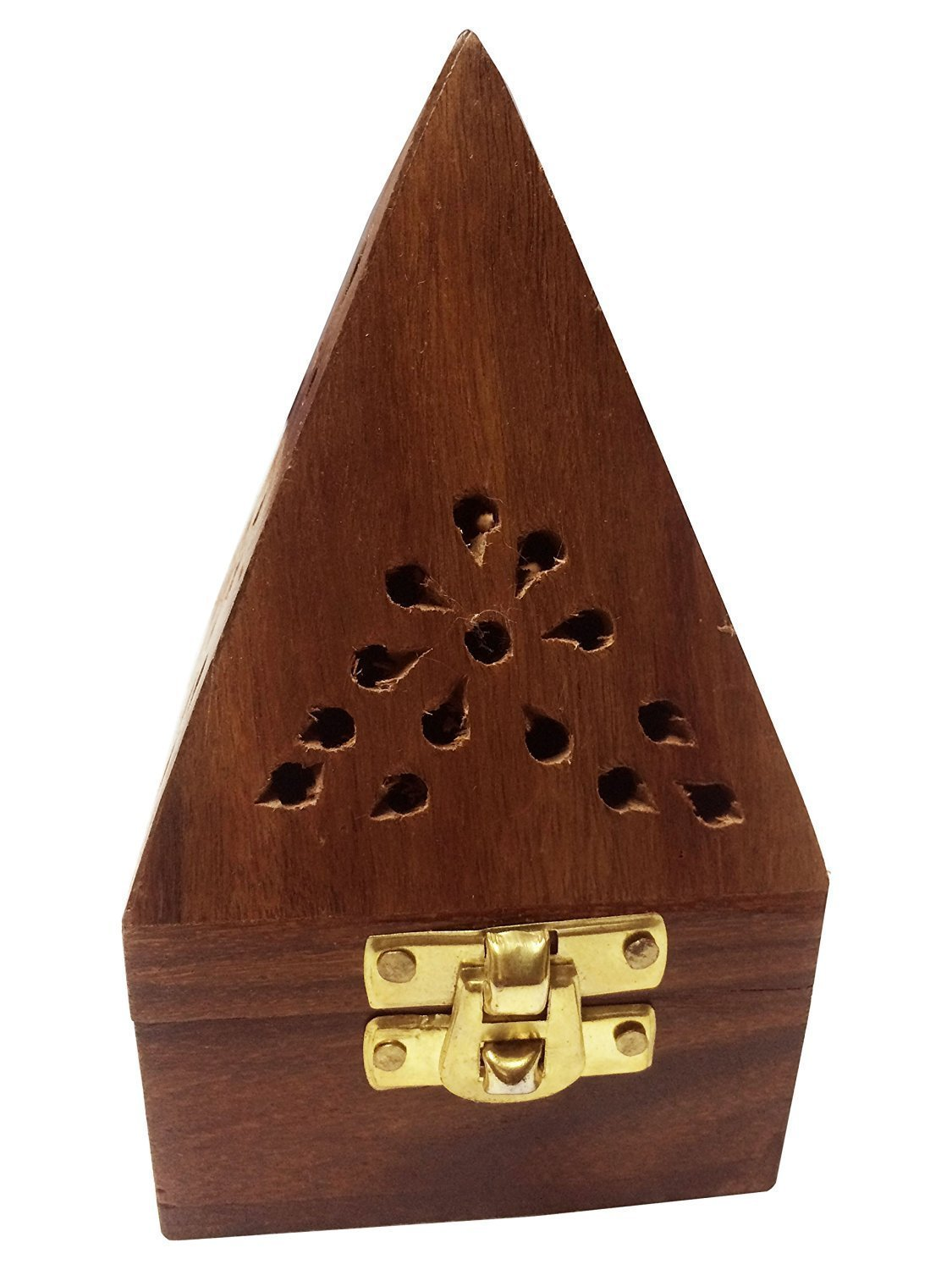 Babli 12 Inch Wooden Incense Tower//Incense Stick Holder//Incense Cone Stand with Intricate Floral Carving Wooden Incense Holder on Big Sale
