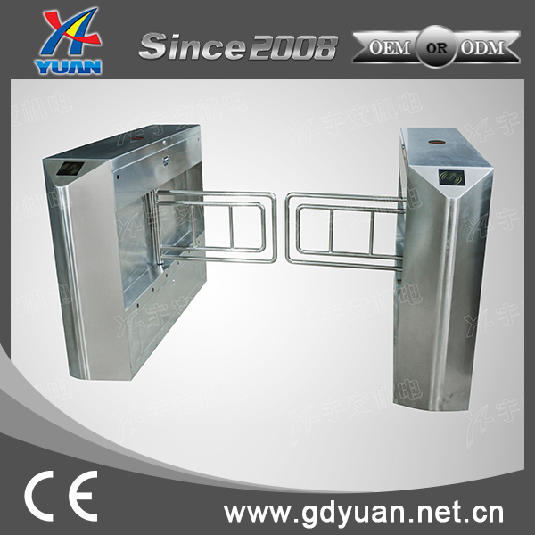 automatic crowd control management swing barrier