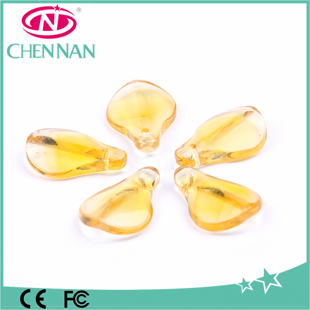 yiwu hot sale jewelry making machine charm petal shaped crystal beads for bracelet