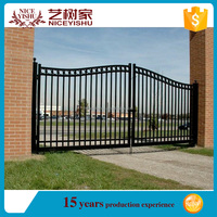 Yishujia factory house steel gate grill designs, steel tubular grill design gate