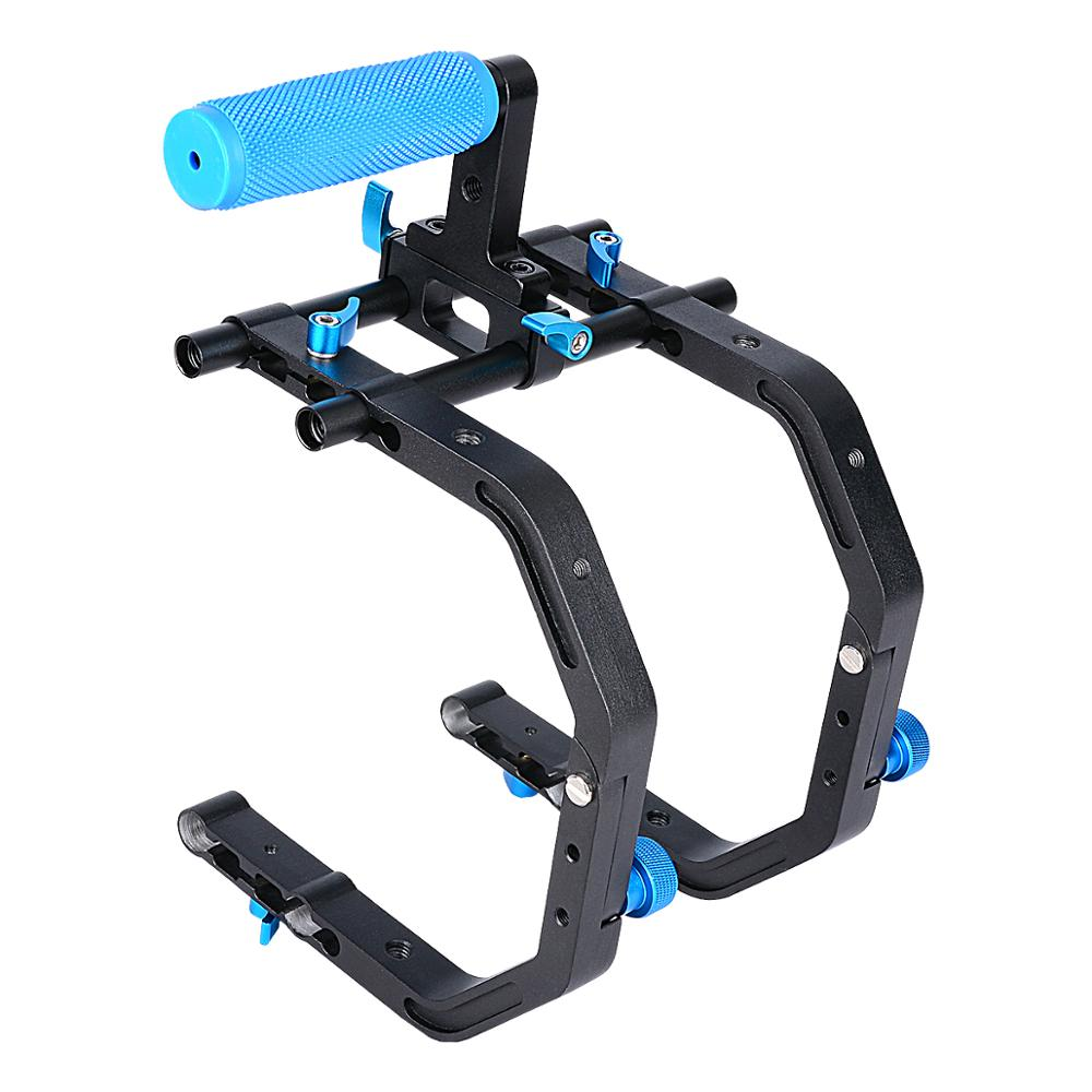 YELANGU Professional Video Camera dslr Shoulder Mount Kit DSLR Rig With Follow Focus With Matt Box