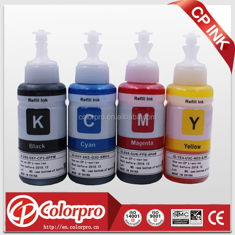 Cheapest price 70ml dye ink for epson L series printer