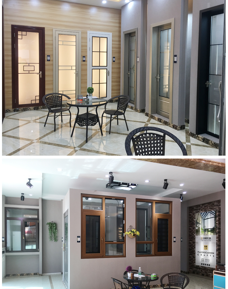 Manufacturers selling two rail aluminum sliding door tempered glass sliding door to the living room balcony window professional
