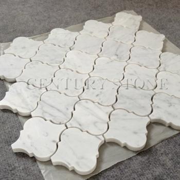 Carrara Marble Lantern Mosaic Backsplash Tiles Lowes