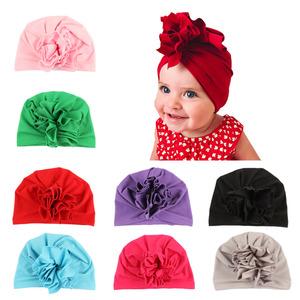 Best Quality Cotton flower Knot Beanie Hat spring autumn Winter Soft Baby  Beanies 3d1e4aaf86fb
