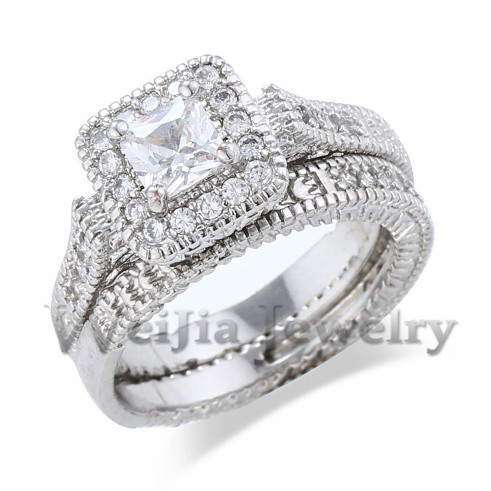 Vintage Style Copper CZ Simulated Diamond Solid Real