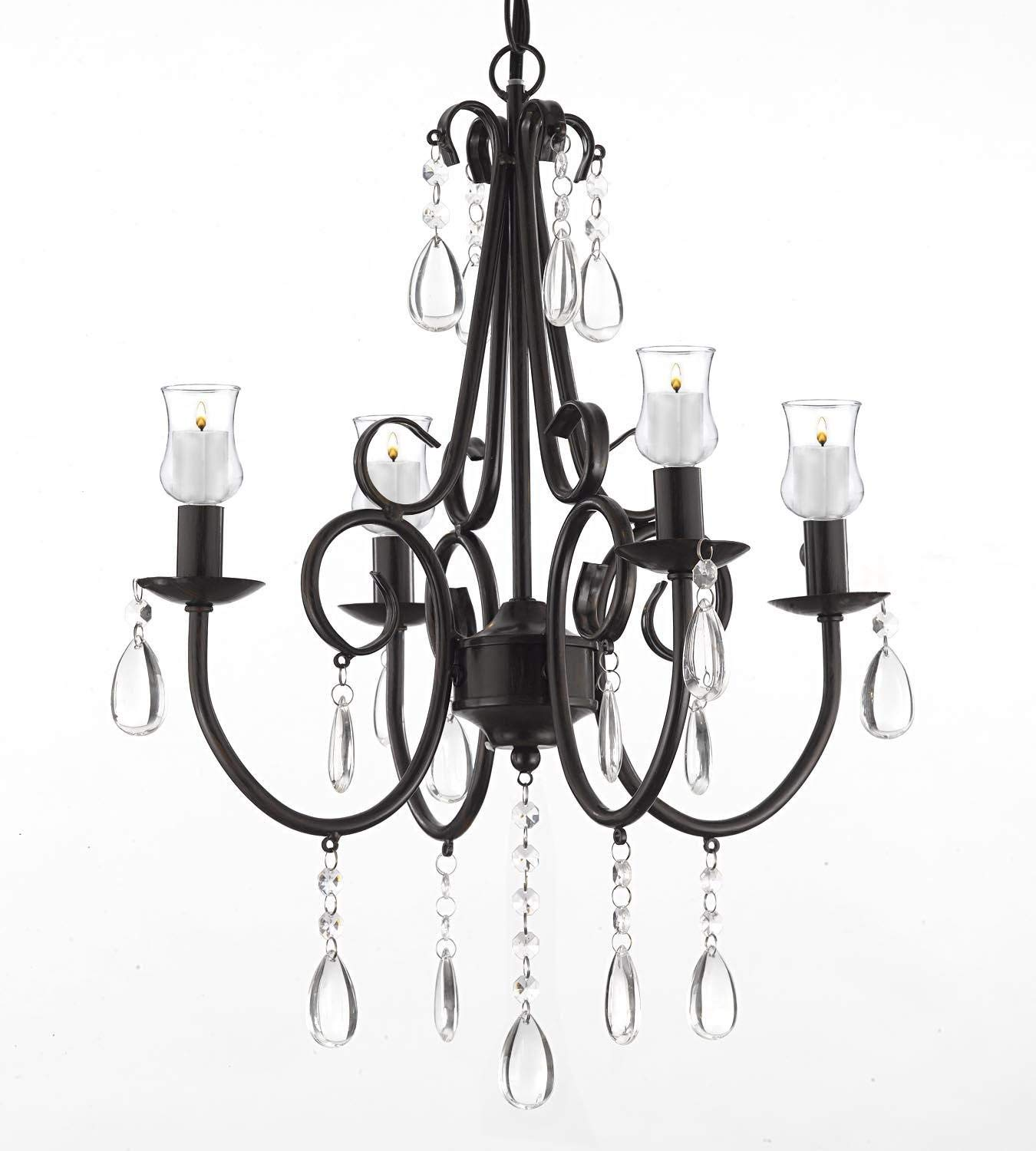 Rod Iron Candle Chandelier Find