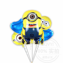 Cartoon character party decoration baby shower toys minion foil large helium balloon
