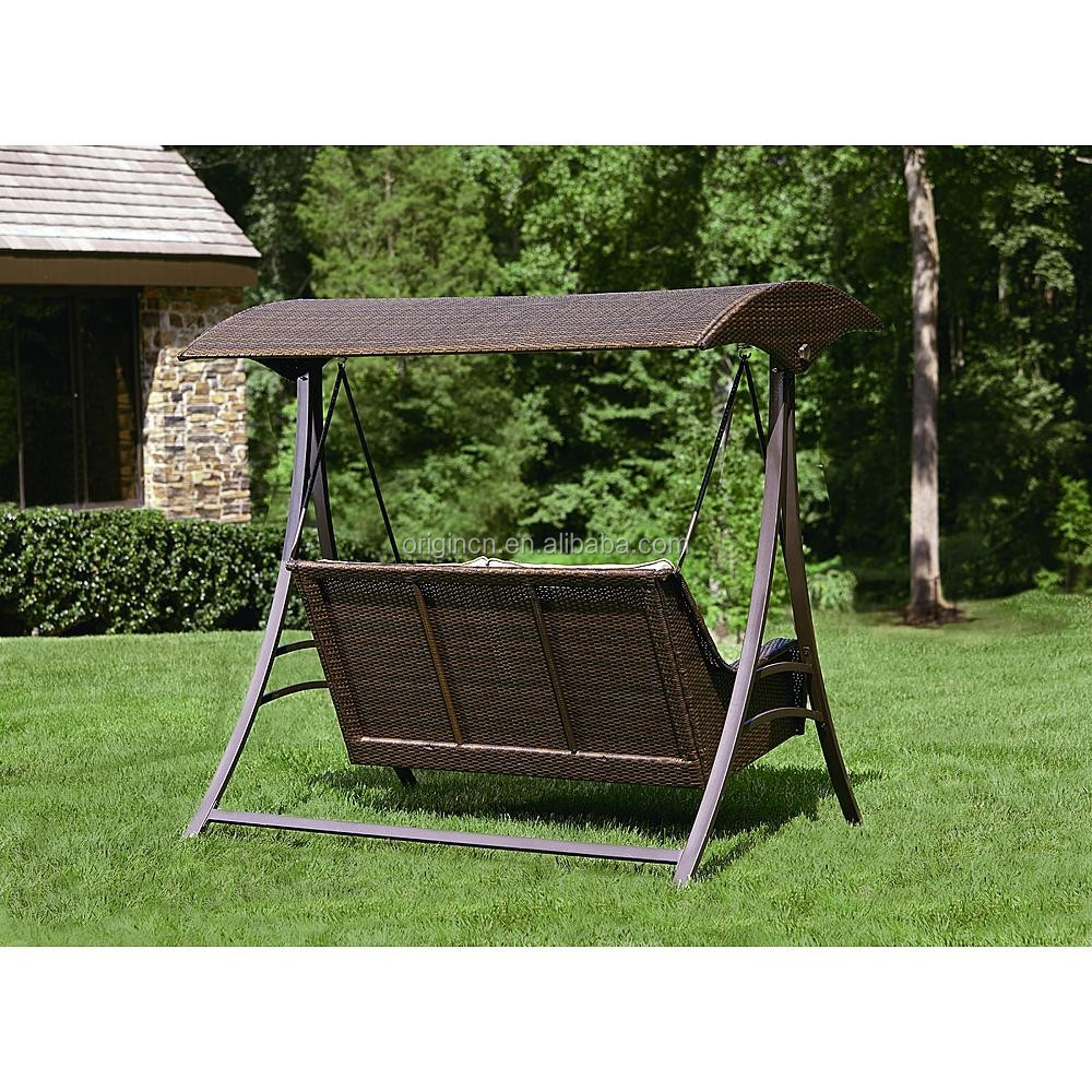 Garden Swings For Adults: 2016 England Style Rattan Garden Swing With Canopy Outdoor