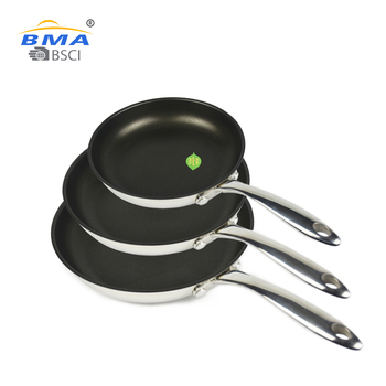 China wholesale cooking cookware set 20 / 24 / 26cm aluminum / stainless steel sauce non stick fry pans sets