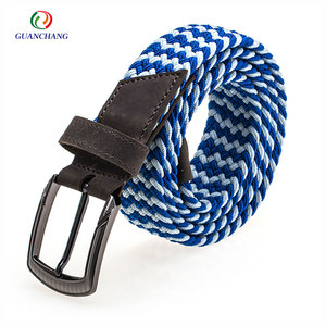 Bottom cost custom hot selling braided men's thin fashion belt for jeans