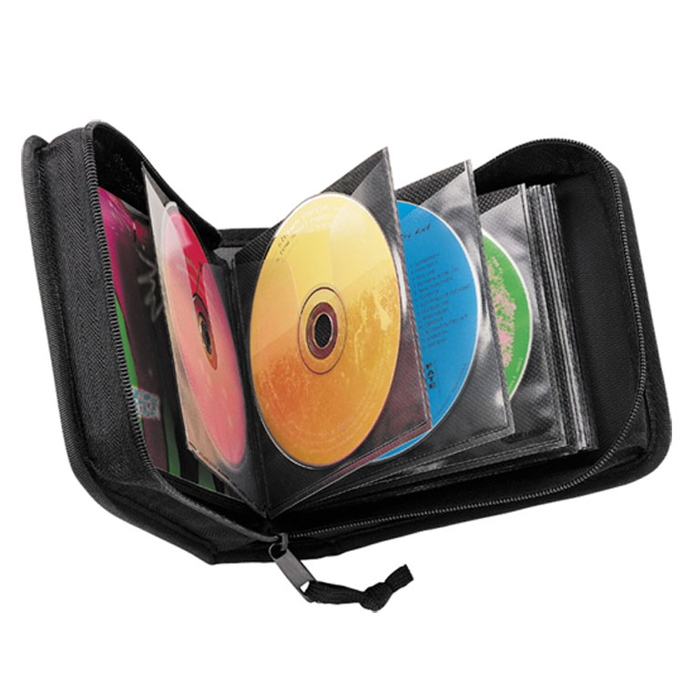 dvd case holder simple fashion black car DVD player bag, promotion cd case wholesale