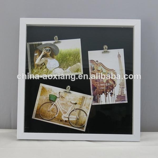 boda marcos de bricolaje 3 clips con imágenes- respaldo de mdf wht& ...