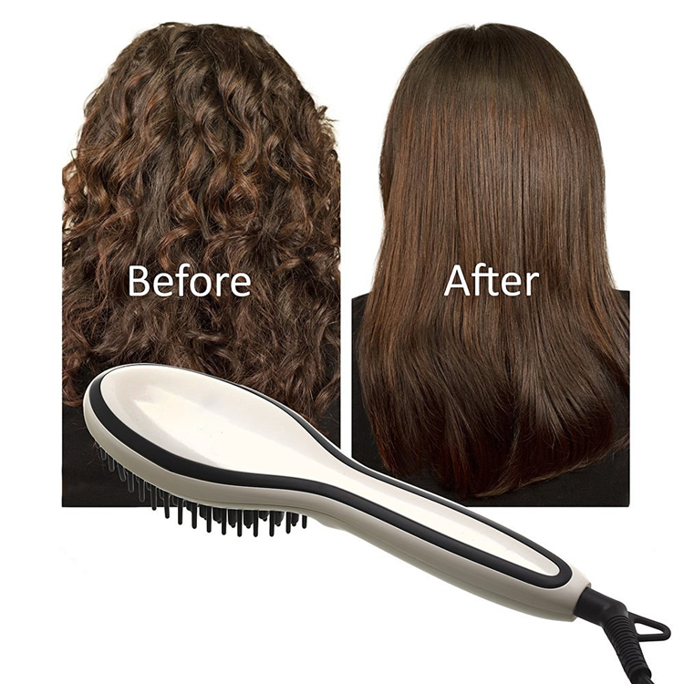2017 New Arrivals Afro Hot Pick Electric Comb Ionic Staightening Hair Brush