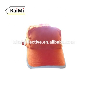 wholesale Baseball Sports 6-panel cap hi vis security 3m reflective knit hat orange baseball cap
