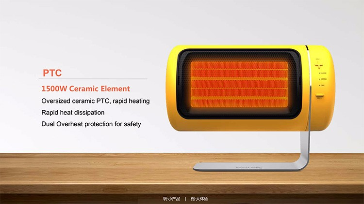 Wholesale oem 1500w easy home electric mini ptc fan heater with Automatic Tip-off Protection