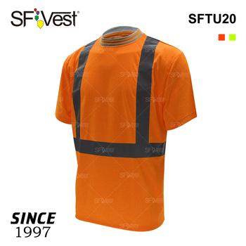 828f720d3d915 Costilla diseño del cuello con combinación reflector camiseta para hombres  construcción seguridad camisas para hombre jpg