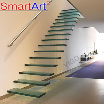 Modern Glass Floating Stairs Glass Floating Staircase Build Wood