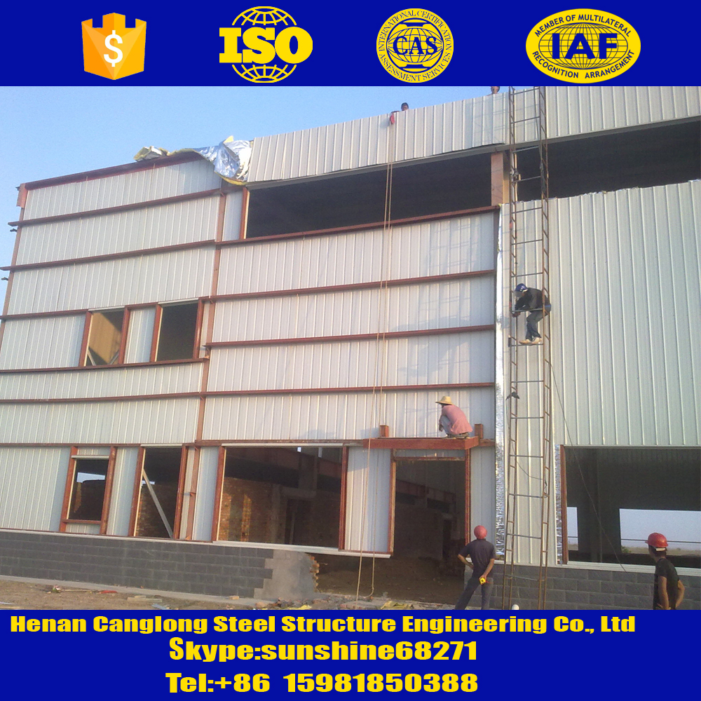 BSASTMJISGBDINAISI Standard panel fabricated steel warehouses in argentina