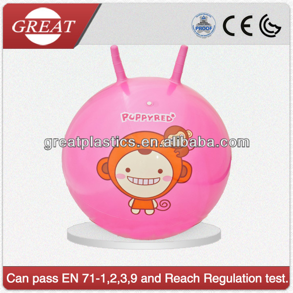 Perfect children animal sex hopper ball with grips