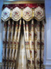 Medusa Jacquard Embroidery Window Curtains/ Embroidered Organza Fabric/ Master Bedroom Entrance Door Ready Made Curtain