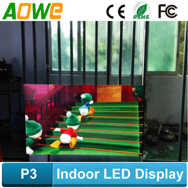 Indoor P3 full color message moving computer controlled led display