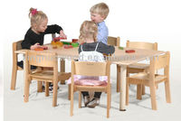 wooden children table and chair set