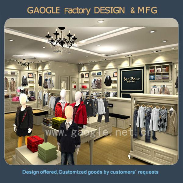 245a6354612bd cloth counter table design garment shop interior design garment shop  decoration furniture