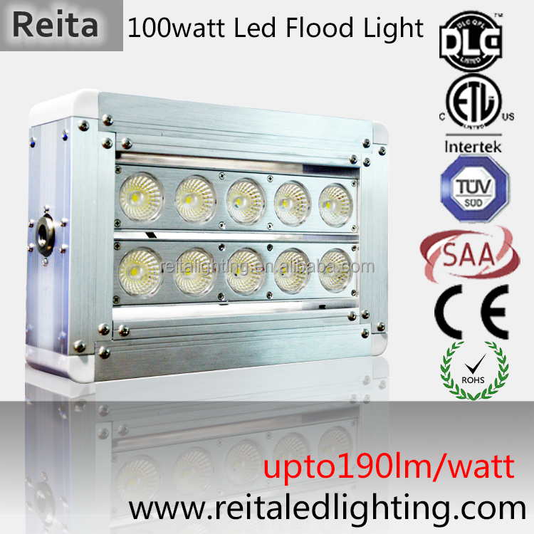 Bridgelux chip construction site led floodlight white color 100W led flood light lamp