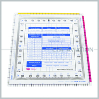 Navigation Acrylic Square Protractor,140mm length scale 1 : 500,000,3MM thick protractor for flight training# CSP14-3