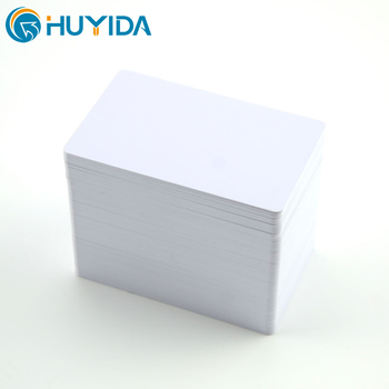 Wholesale promotion CR80 85.5*54*0.76mm glossy laminated thermal printable blank white plastic pvc card