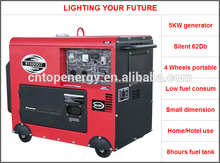 High Quality EPA Dual Voltage 50Hz/60Hz 5kw Portable Diesel Generator 5kva to 6kva genset (Open and soundproof)