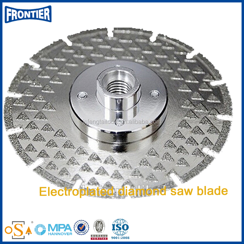 Two side Electroplated diamond saw blade with clamp