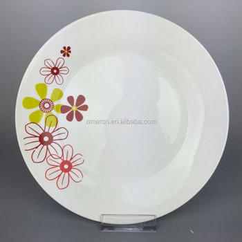 pas cher blanc porcelaine assiette ensemble avec motif fleurs quotidiennes porcelaine d ner. Black Bedroom Furniture Sets. Home Design Ideas