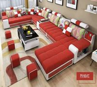 Bellagio U Shape Large Fabric Couch, Modern Corner Sofa Living Room U Shaped-- colour selection