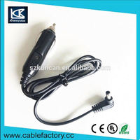 Alibaba china car charger with cables 12v dc 2.1mm car cigarette lighter power supply cable for rear view monitor KC-CAR-349